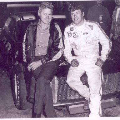 Bud Keoller & Dick Trickle at Raceway Park