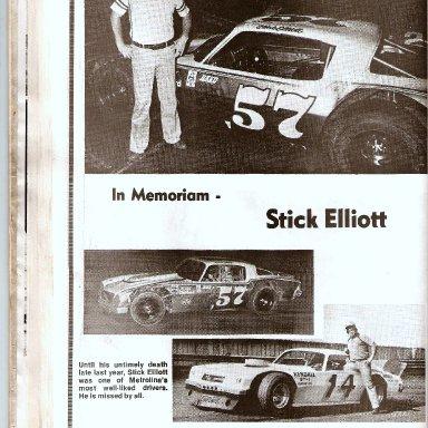In Memoriam of Stick Elliott 1980s' Page 1 of 2