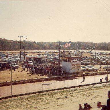 Drivers meeting Concord Speedway 1968