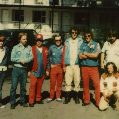 My cousin with Richard Petty and crew