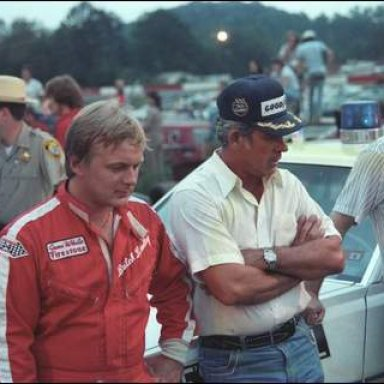 Butch Lindley and David Pearson at Greenville-Pickens 1979