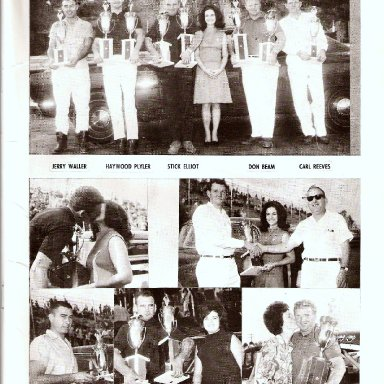 GASCARS 1968 POINT WINNERS-- NAME SOME- -CONCORD SPEEDWAY SOUVENIR MAGAZINE 1960S'