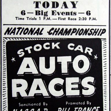Peace Haven Speedway - October 31, 1948