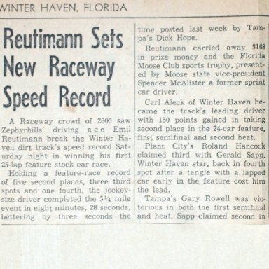 WINTER HAVEN RACEWAY
