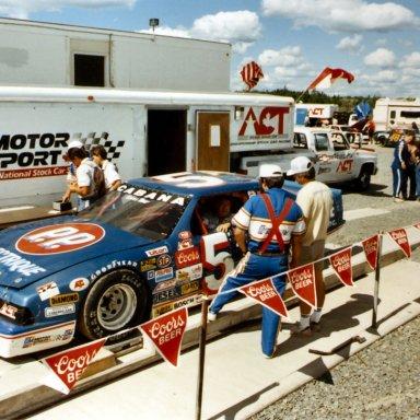 Jean Paul Cabana ACT race at Halifax(NS) 1988 or 1989