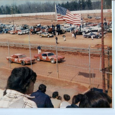 BILLY SCOTT AND CHUCK PIAZZA METROLINA SPEEDWAY 1970S' -