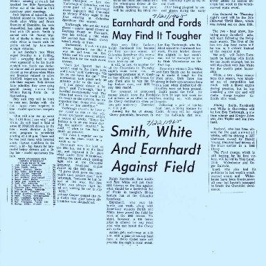 Smith, White, And Earnhardt Still Leading Track Publicity 1965