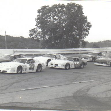 Late Model action  Queen City Speedway   80s