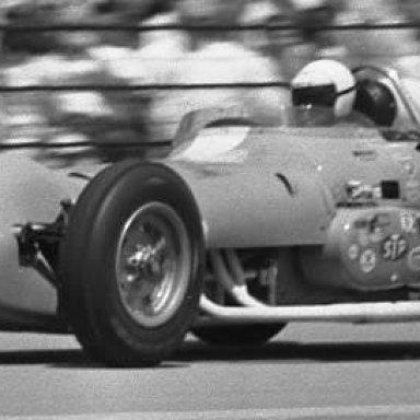 Jim Hurtubise at speed Indy 1963