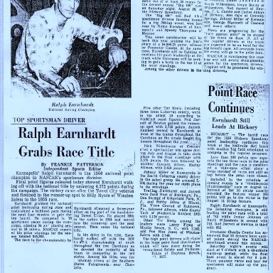 National Champion Ralph Earnhardt 1956
