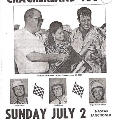 Program cover for Lakewood Speedway 1967