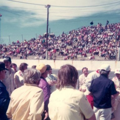Drivers Meeting at Hickory April 1974