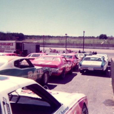 Cale Yarborough 11 Elmo Langley 64 at Hickory April 1974