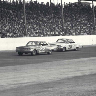 1963 Roberts and Lorenzen at Darlington