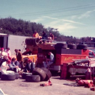 Harry Gants Pits at Hickory April 1974