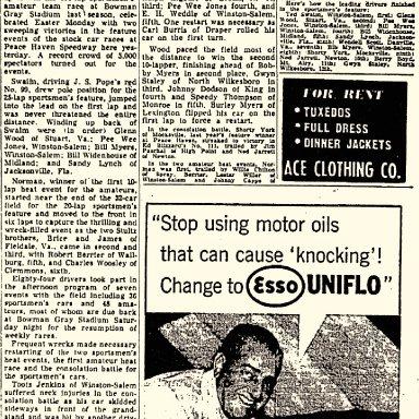 Peace Haven Speedway - April 19, 1954