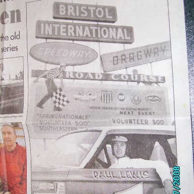 Paul Lewis Newspaper Clip