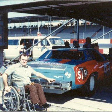 dad and petty's car darlington 1980