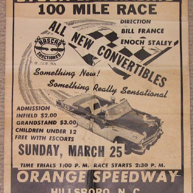 Poster- 1956 Convertible race