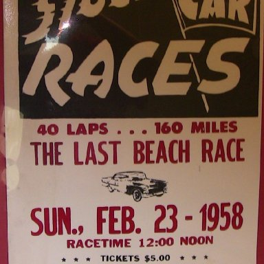 Poster- 1958 Daytona Beach Race