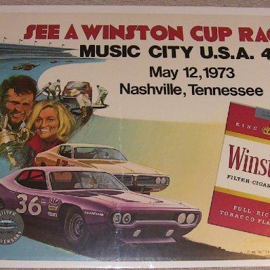 Poster- 1973 Music City 420 Nasville Speedway