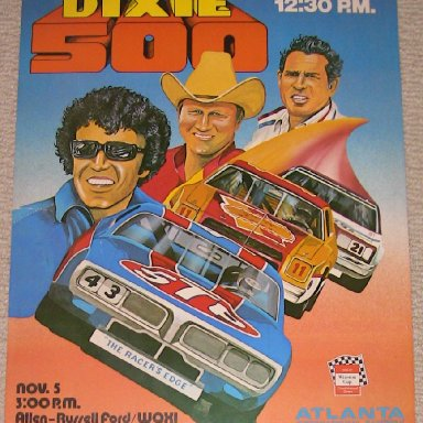 Poster- 1977 Dixie 500