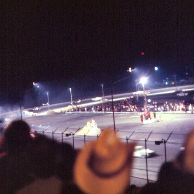 Oxford 250-1982-Ed Howe is on the outside coming out of turn 4