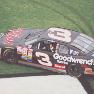 Dale Earnhardt Celebrates Winning the 1998 Daytona 500