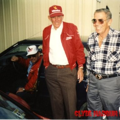Jimmy Lewallen in Car E.H.Weddle In Red Jacket And My Uncle Bob Mcginnis.