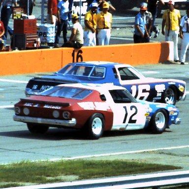 ARCA #12 Bobby Allison #16 Rusty Wallace 1980 Norton 200