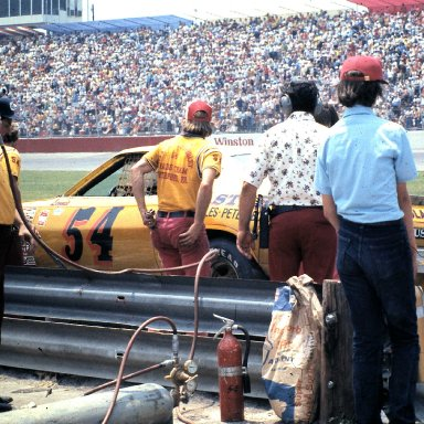 Pit Action at Charlotte Motor Speedway