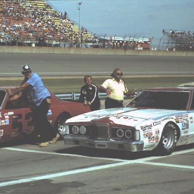 #21 Neil Bonnett #53 Slick Johnson 1980 Champion Spark Plug 400