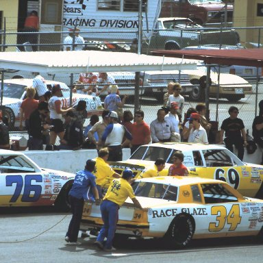 ARCA #34 Bob Brevak #69 Ferrel Harris #76 Duane Pierson 1984 ARCA 200 @ Daytona