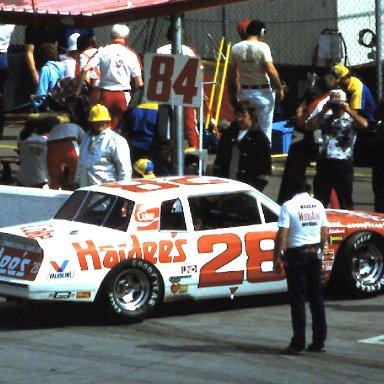 #28 Cale Yarborough 1984 1st UNO Qualifier @ Daytona
