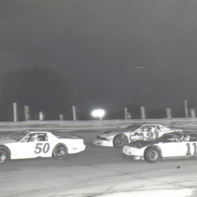 Former ARCA driver Larry Smith # 50  with #11 Dick Dunlevy Jr. & #21 John Vallo @ Kil Kare
