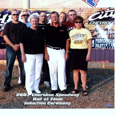 Induction of Billy Scott into Cherokee Speedway Hall Of Fame