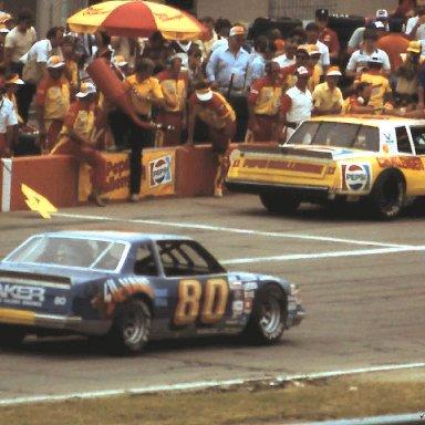 #89 Bob Seneker #11 Darrell Waltrip 1983 Gabriel 400 @ Michigan