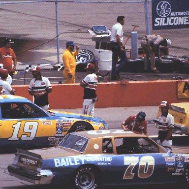 #19 Henley Gray #70 J.D. McDuffie 1982 Gabriel 400 @ Michigan