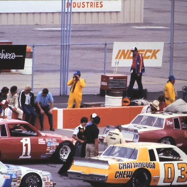 #36 H.B. Baily #1 Benny Parsons #03 David Pearson #71 Dave Marcis 1982 Gabriel 400 @ Michigan