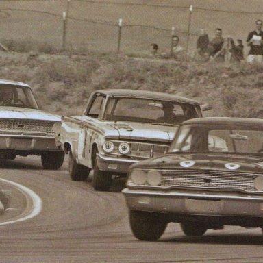 1963 Goldenstate 400 Dave MacDonald finishes 2nd behind Dieringer