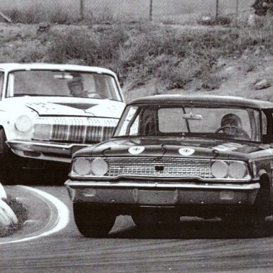 1963 Goldenstate 400 Dave MacDonald in Wood Bros Ford - Billy Wade