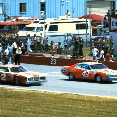 #43 Richard Petty #2 Bobby Allison 1976  Cam 2 Motor Oil 400 @ Michigan