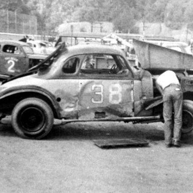 #38 Buddy O'Connor at Heidelberg (PA) Raceway 1955