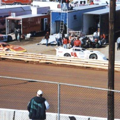 #E1 Balzano & #24 Eckert @ Hagerstown (MD) Speedway Feb 23rd 1997