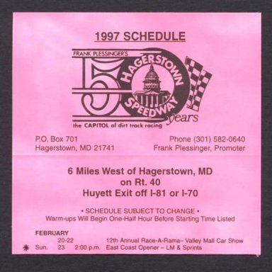 East Coast Opener @ Hagerstown (MD) Speedway Feb 23rd 1997