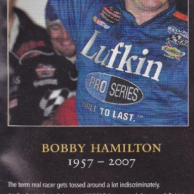 BOBBY HAMILTON SR