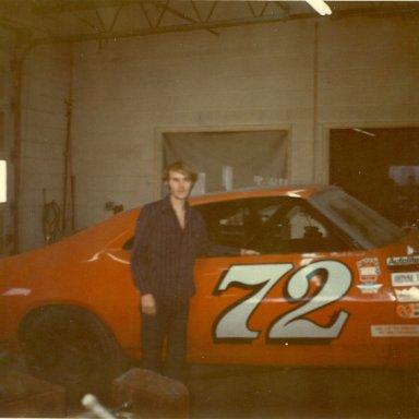 1973 ME AT BENNY PARSONS RACE SHOP