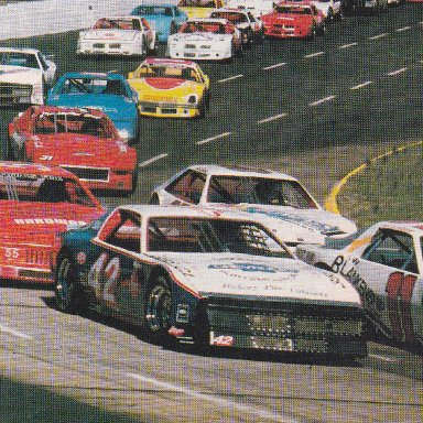 THE START OF THE LATE MODEL RACE
