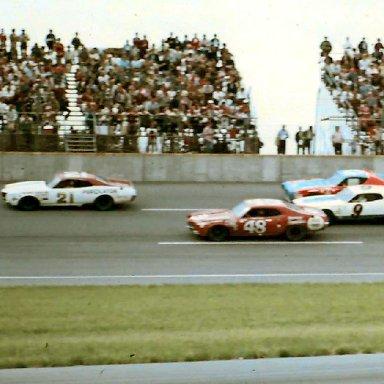 #21 David Pearson #48 James Hylton #9 Pete Hamilton #43 Richard Petty 1972 Motor State 400 @ Michigan