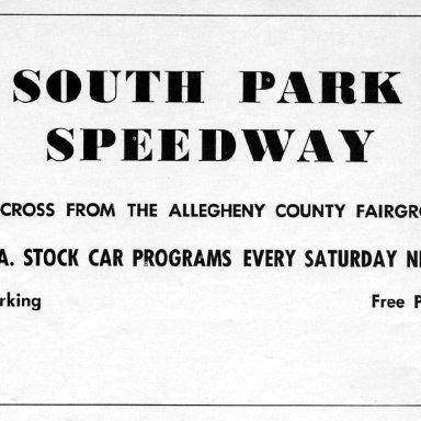 South Park (PA) Speedway 1953-1968
